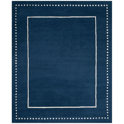 Safavieh Bella Navy Blue Ivory 8 Ft X 10 Ft Area Rug Blue Area Rug 8 X 10