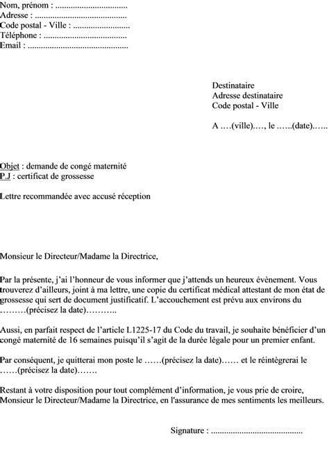 Modeles De Lettre Conge Parental Modele Lettre Employeur Conge Parental Document