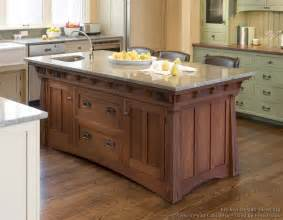 kitchen cabinet island mission style kitchens designs and photos