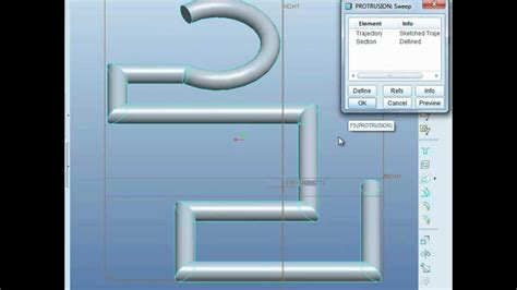 pro engineer pattern youtube pro engineer pro e tutorial learn sweep to draw pipe
