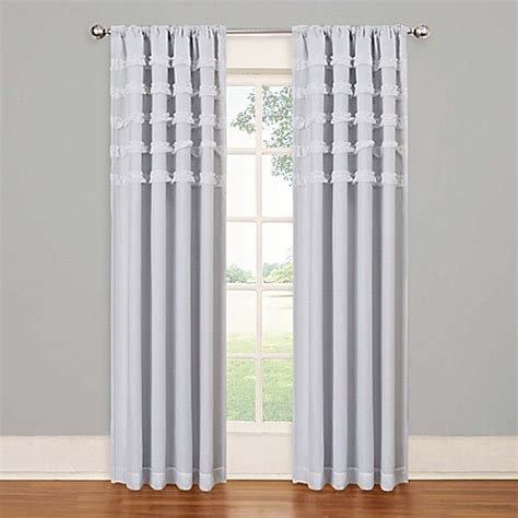 White Darkening Curtains Solarshield 174 Rihanna Rod Pocket Room Darkening Window Curtain Panel Bed Bath Beyond