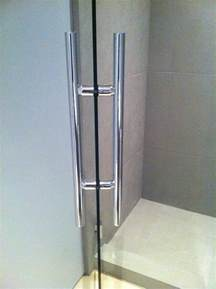 impact with shower door handles ot glass