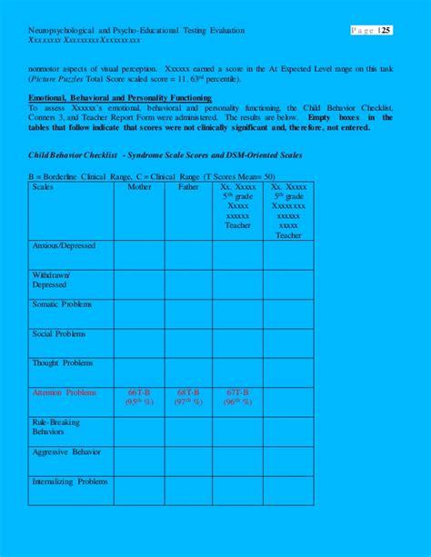 psychoeducational report template sle neuropsychological report sle psychoeducational report best free home sle