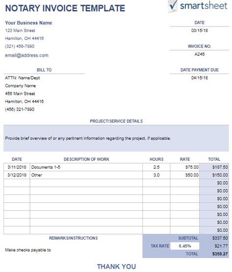 15 Free Google Docs Invoice Templates Utemplates Notary Invoice Template