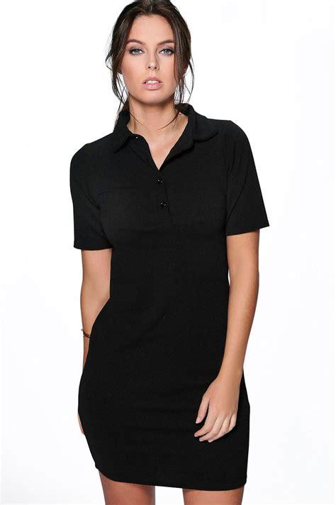 Dress Polo Polos Aic boohoo womens carinna polo shirt dress ebay