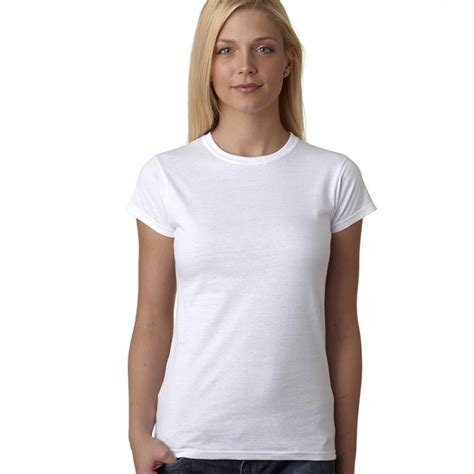 White Shirt Womens by Fruit Of The Loom Fitted White T Shirt