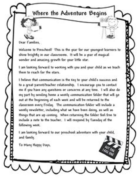 Parent Letter Introducing New Unit 1000 Ideas About Preschool Welcome Letter On Attendance Preschool Schedule And