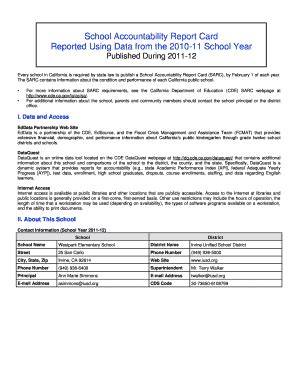 school accountability report card template bank reconciliation sle reports forms and templates
