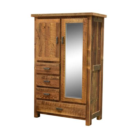 Amish Kitchen Furniture Barnwood Farmhouse Four Drawer Armoire Amish Crafted