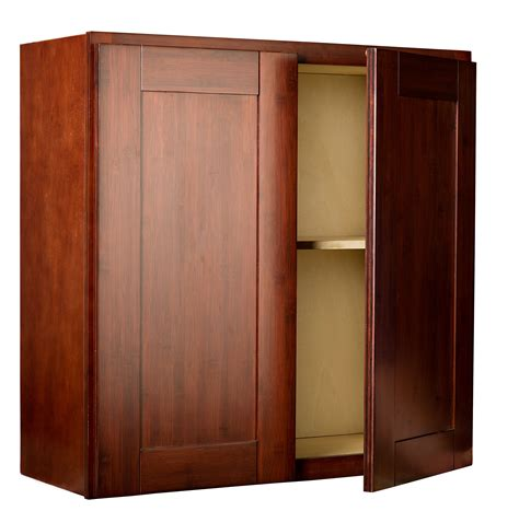 bamboo kitchen cabinet door wall cabinet open