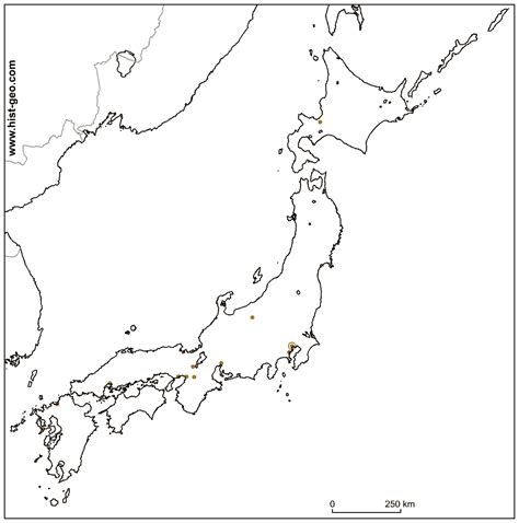 Japan Map Cities Outline by Outline Map Of Japan About Japanese Cities