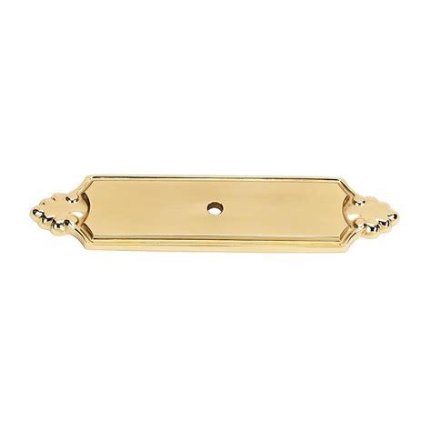 brass cabinet knob backplate alno creations shop a1454 pb knob backplate polished