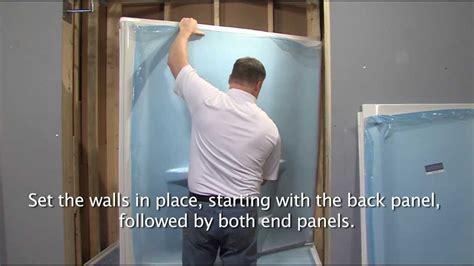 lyons shower base install   youtube