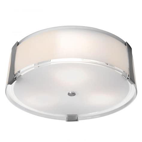 access brushed steel opal tara 3 light flush mount
