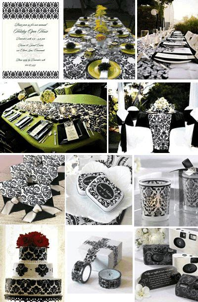 Damask Decorations by Damask Black And White Baby Shower Ideas For