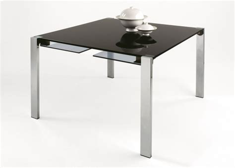 Tonelli Livingstone Square Glass Dining Table   Square Glass Tables