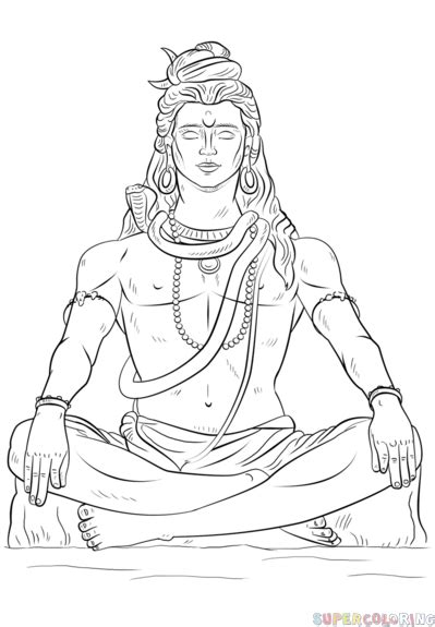 how to draw lord shiva step by step drawing tutorials