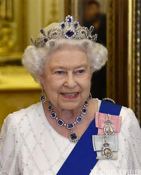 queen elizabeth ii glistens in diamonds and sapphires for the belgian sapphire tiara the court jeweller