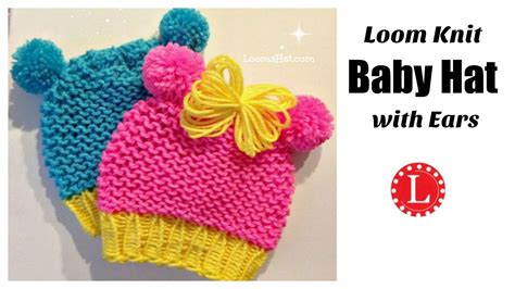 loom knit minnie mouse hat loom knit minnie mouse hat on loom baby hat