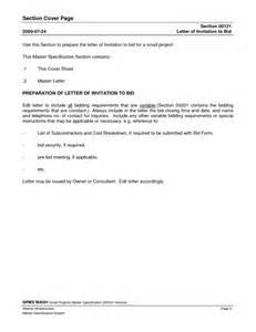 Invitation To Bid Letter Template by Invitation To Bid Templates