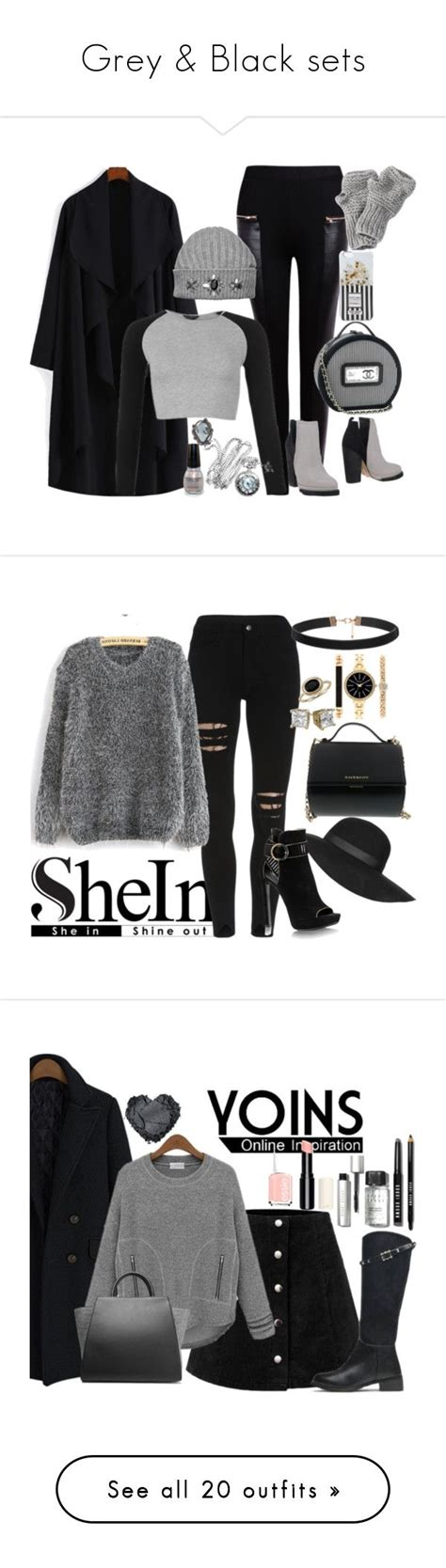 Set Chanel Grey Kid quot grey black sets quot by fashion liked on polyvore