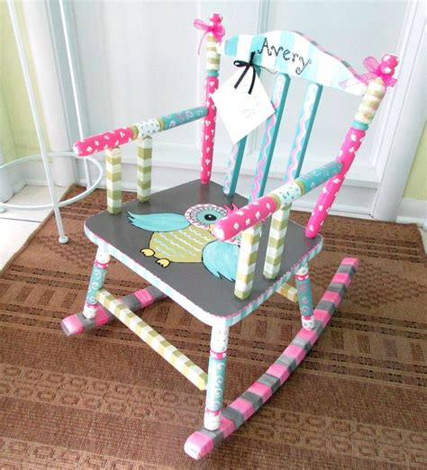 Personalized Baby Chair by Painted Child Rocking Chair Personalized Child Chair