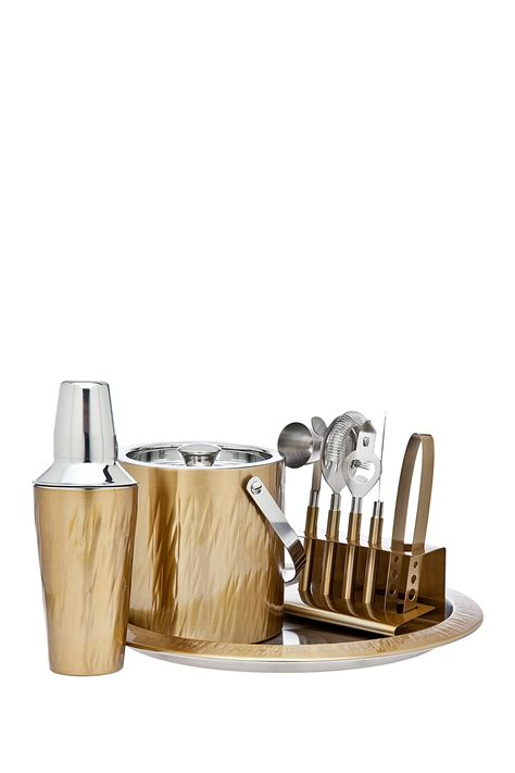 barware sets godinger aztec 9 piece gold barware set nordstrom rack