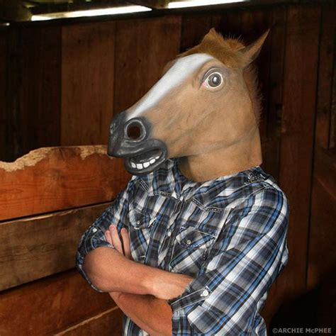 horse head mask  original archie mcphee horse mask
