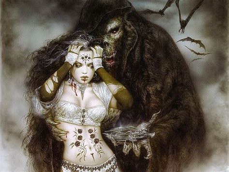 the beautiful gothic fantasy artwork of luis royo