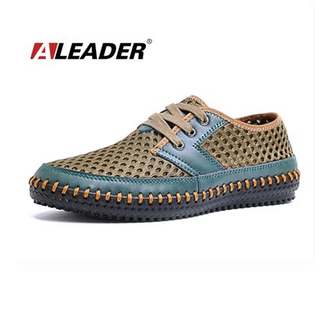 aliexpress buy summer breathable mens leather shoes new 2015 mesh comfort casual shoes