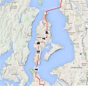 tacoma california map from dome to home tacoma to seattle via vashon