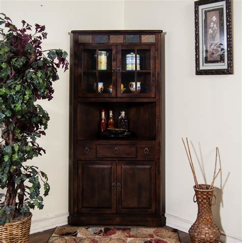 designs santa fe corner china cabinet in