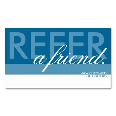 refer a friend coupon template refer a friend overlaid business card it is places and