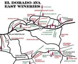 wines el dorado east map page