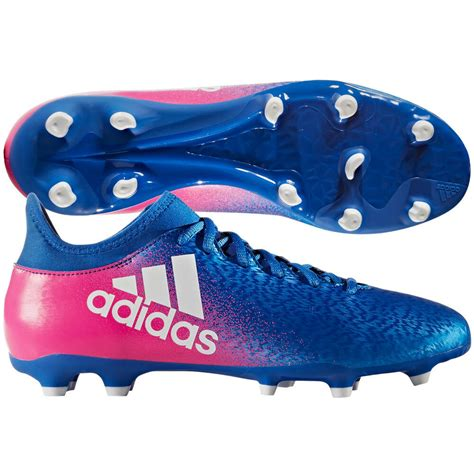 adidas x 16 3 fg 2017 soccer shoes cleats new blue pink white brand new ebay