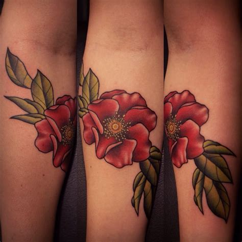 wild rose tattoos on forearm by justin jakus yelp