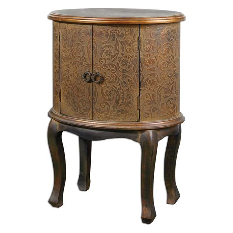 uttermost 25664 axelle wooden drum accent table drum accent tables uttermost ascencion drum accent table