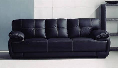 Black Leather 3 Seater Sofa Romeo 3 Seater Black Leather Sofa Classic Comfort Delux Deco