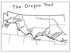 route of the oregon trail map oregon trail genealogy familysearch wiki