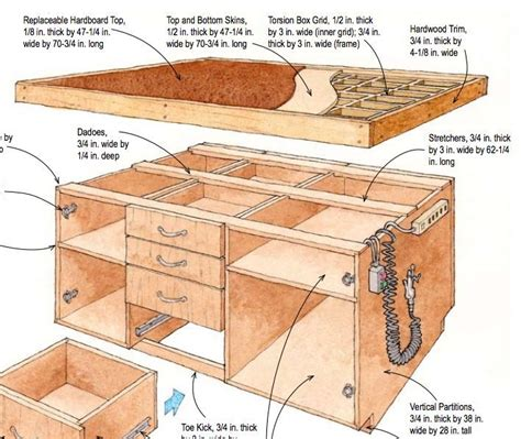 633 Best Images About Woodshop On Pinterest Workbenches Outfeed Table Plans