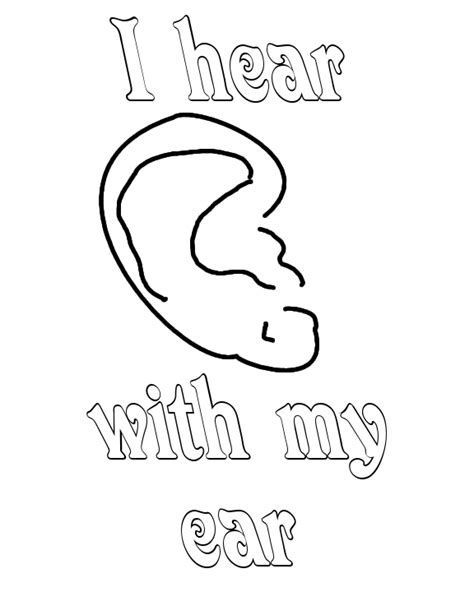 coloring page ear a a ear colouring pages