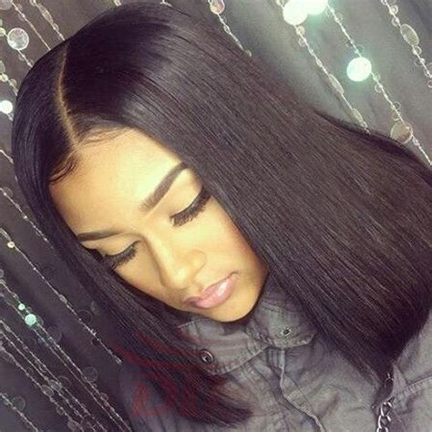 short bobs with bohemian peruvian hair middle part short bob full lace wigs virgin unprocessed