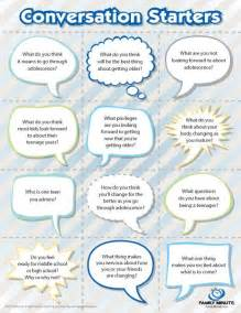 adolescence conversation starters family minute