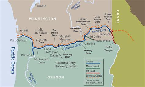 columbia river map usa river cruise usa river cruises