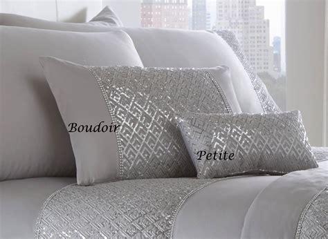 New Luxury Diamante Bedding Duvet Cover Bed Sets Luxury Diamante Trim Duvet Quilt Cover Bedding Set Shimmer