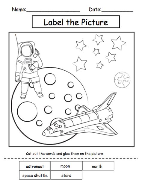 Preschool Solar System Worksheets solar system worksheets for kindergarten solar system