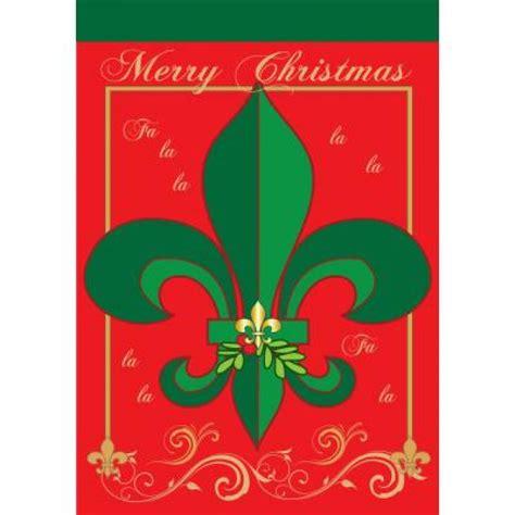 christmas fleur de lis large flag 00441 craftoutlet com