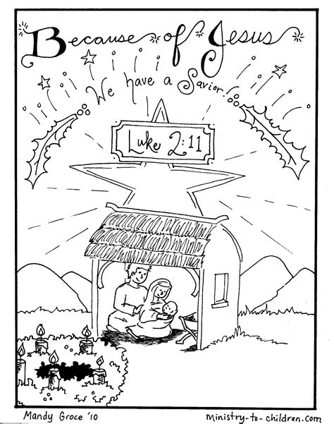 Nativity Coloring Pages Jesus Is Here Printable Nativity Coloring Pages