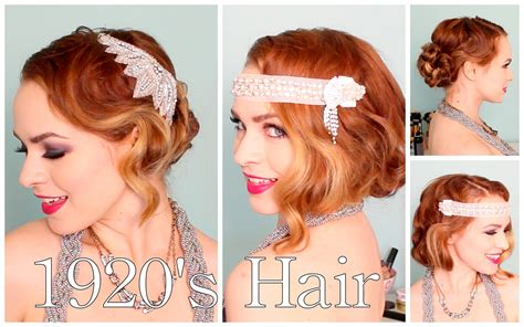 how to do easy 1920s hair dos 1920 s faux bob and updo tutorial youtube