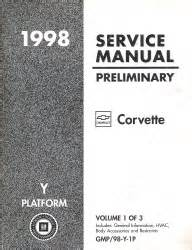 auto manual repair 1998 chevrolet corvette electronic toll collection 1998 chevrolet corvette factory service manual preliminary edition 3 volume set